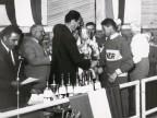 Premiazione della gara di ciclismo.