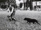 Partecipante alla gara di caccia con cani.