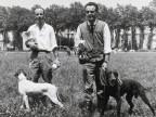 Premiati della gara di caccia con cani.