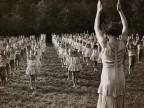 Lezione di ginnastica alla colonia montana M.Garbagni.